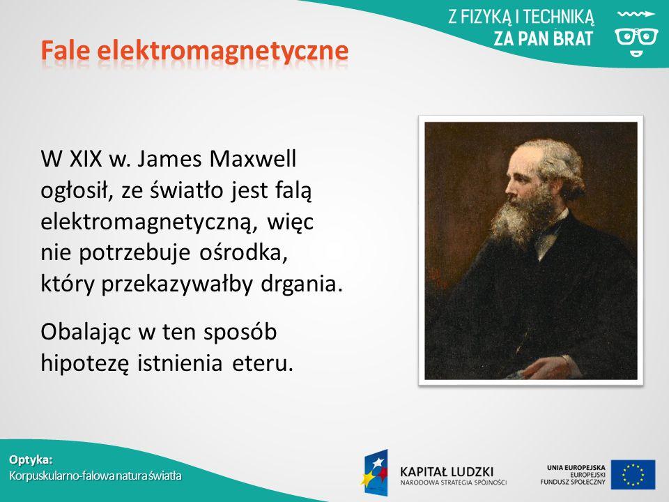 Optyka: Korpuskularno-falowa natura światła W XIX w.