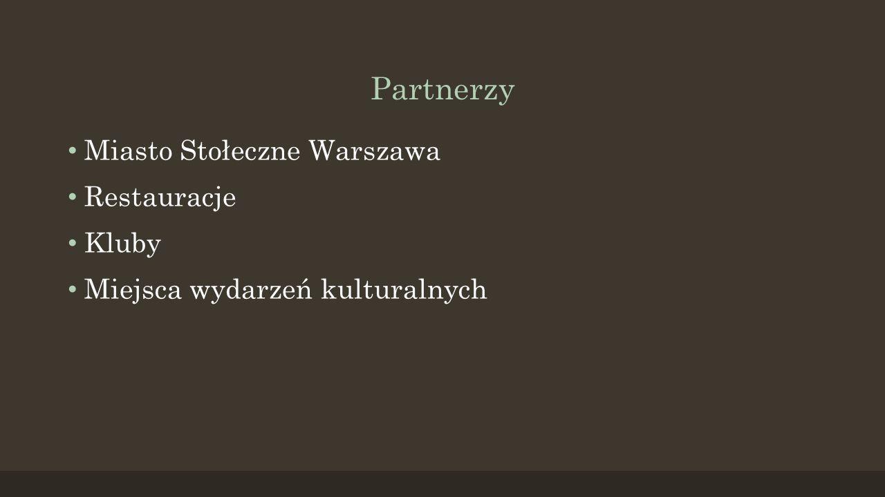 Partnerzy Miasto Stołeczne Warszawa Restauracje Kluby Miejsca wydarzeń kulturalnych