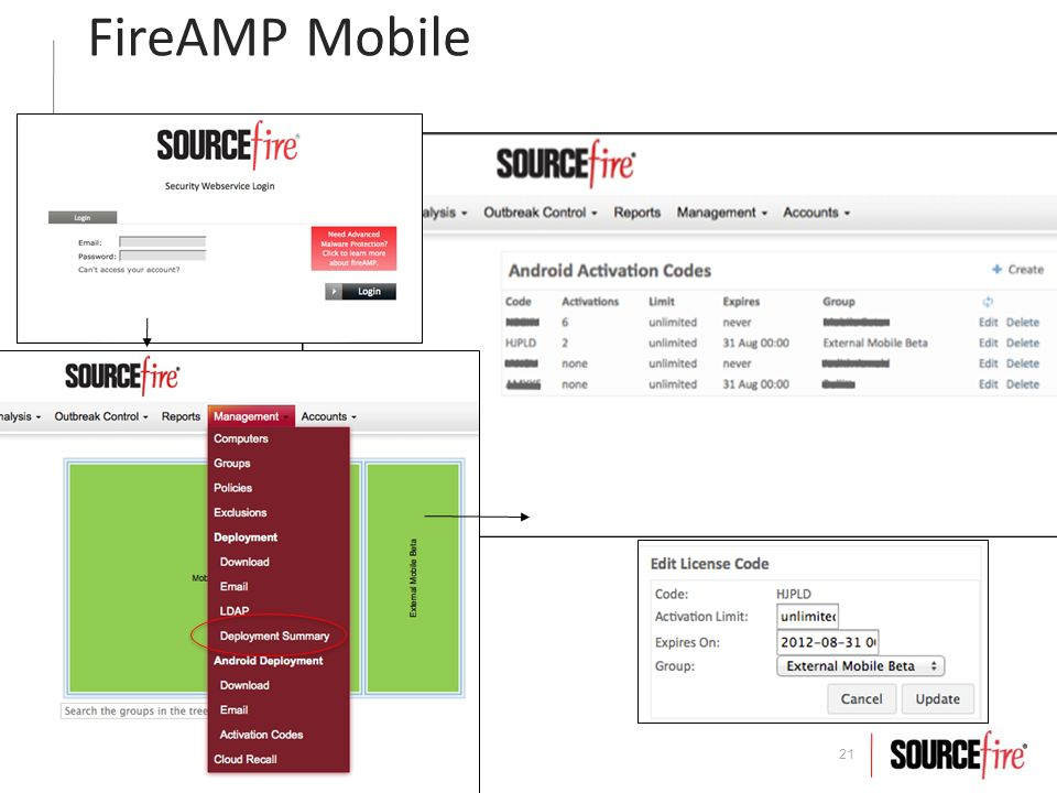 21 FireAMP Mobile