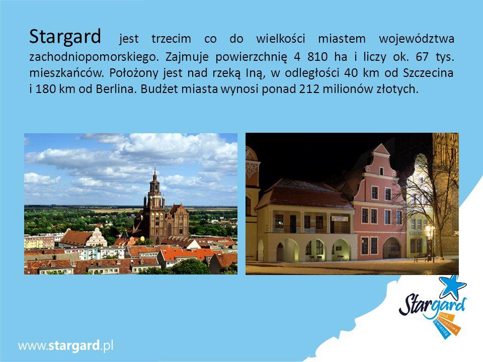 Stargard jest trzecim co do wielkości miastem województwa zachodniopomorskiego. Zajmuje powierzchnię 4 810 ha i liczy ok. 67 tys. mieszkańców. Położon
