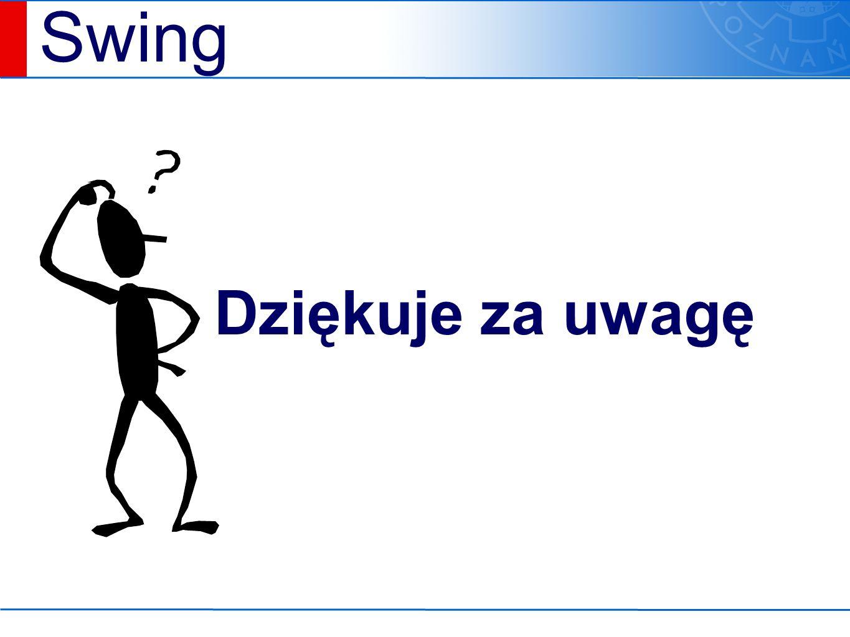 Swing Dziękuje za uwagę