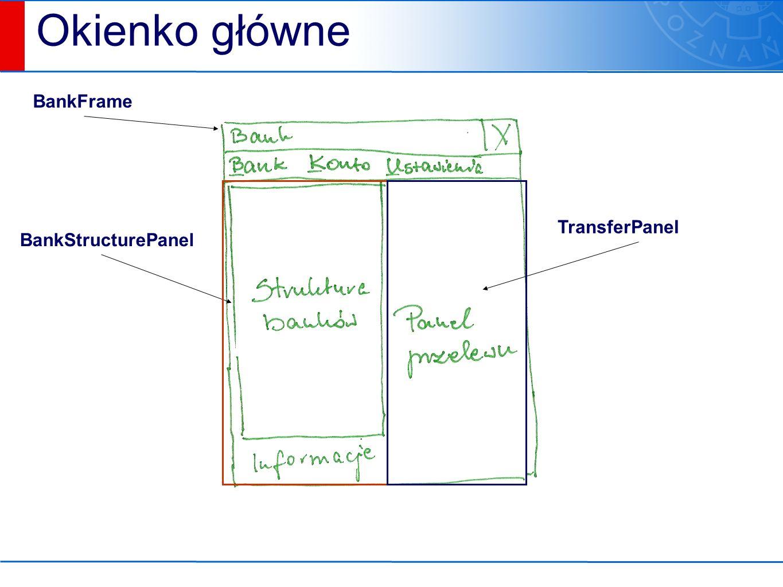 BankFrame BankStructurePanel TransferPanel