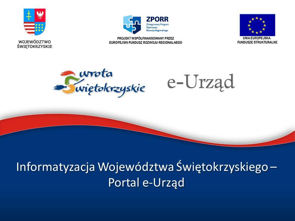 Informatyzacja Województwa Świętokrzyskiego – Portal e-Urząd