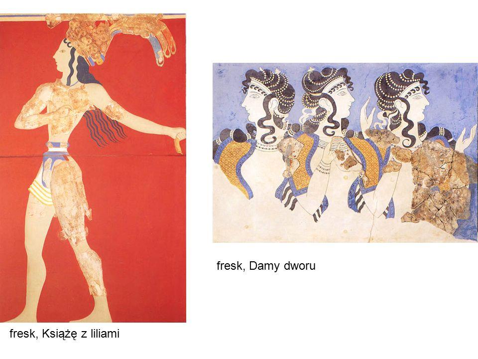 fresk, Książę z liliami fresk, Damy dworu