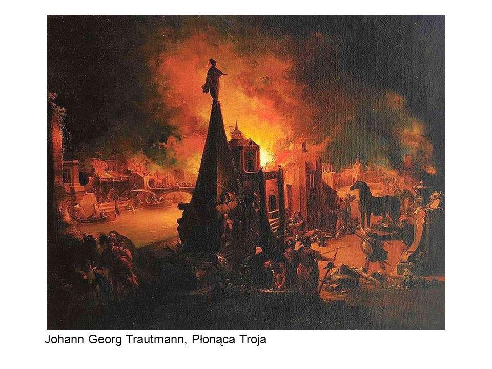 Johann Georg Trautmann, Płonąca Troja
