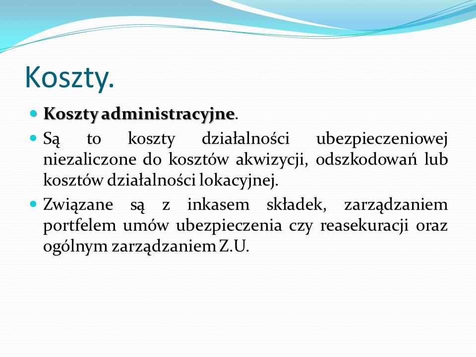 Koszty. Koszty administracyjne Koszty administracyjne.