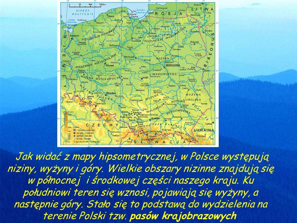 Pasy rzeźby Polski