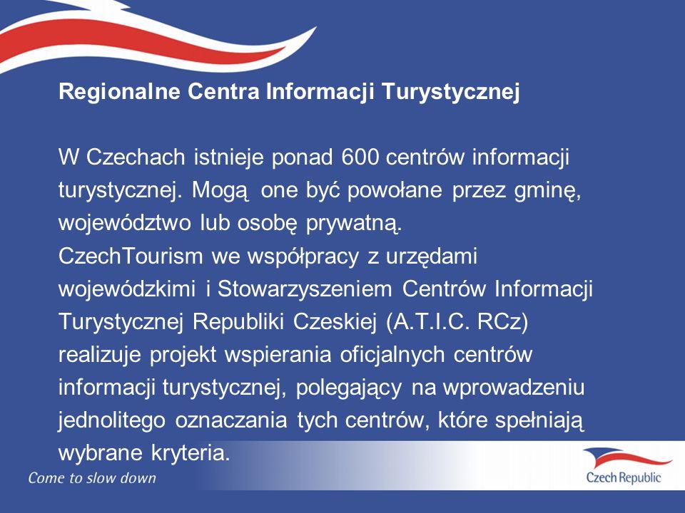 Regionalne Centra Informacji Turystycznej W Czechach istnieje ponad 600 centrów informacji turystycznej.