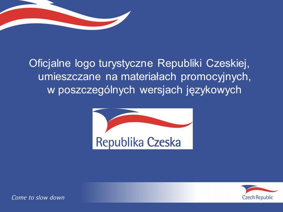Oficjalne logo turystyczne Republiki Czeskiej, umieszczane na materiałach promocyjnych, w poszczególnych wersjach językowych