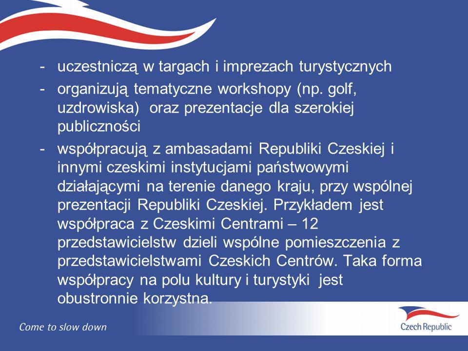 -uczestniczą w targach i imprezach turystycznych -organizują tematyczne workshopy (np.