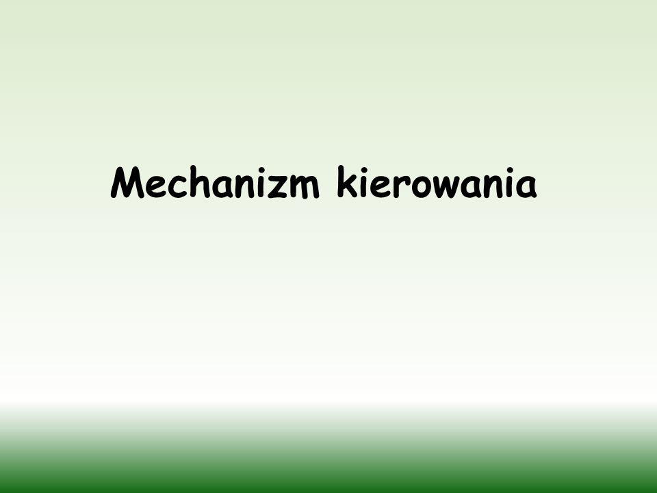 Mechanizm kierowania