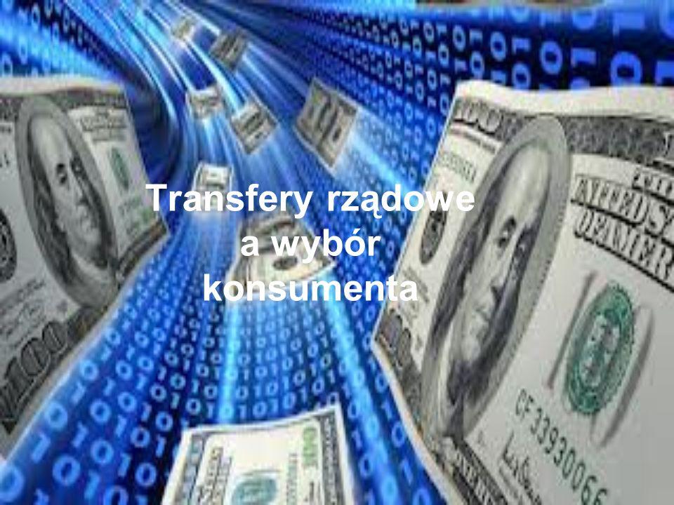 Transfery rządowe a wybór konsumenta