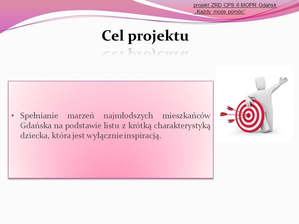 Spełnianie marzeń najmłodszych mieszkańców Gdańska na podstawie listu z krótką charakterystyką dziecka, która jest wyłącznie inspiracją. projekt ZRD C