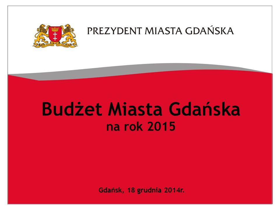 Budżet Miasta Gdańska na rok 2015 Gdańsk, 18 grudnia 2014r.