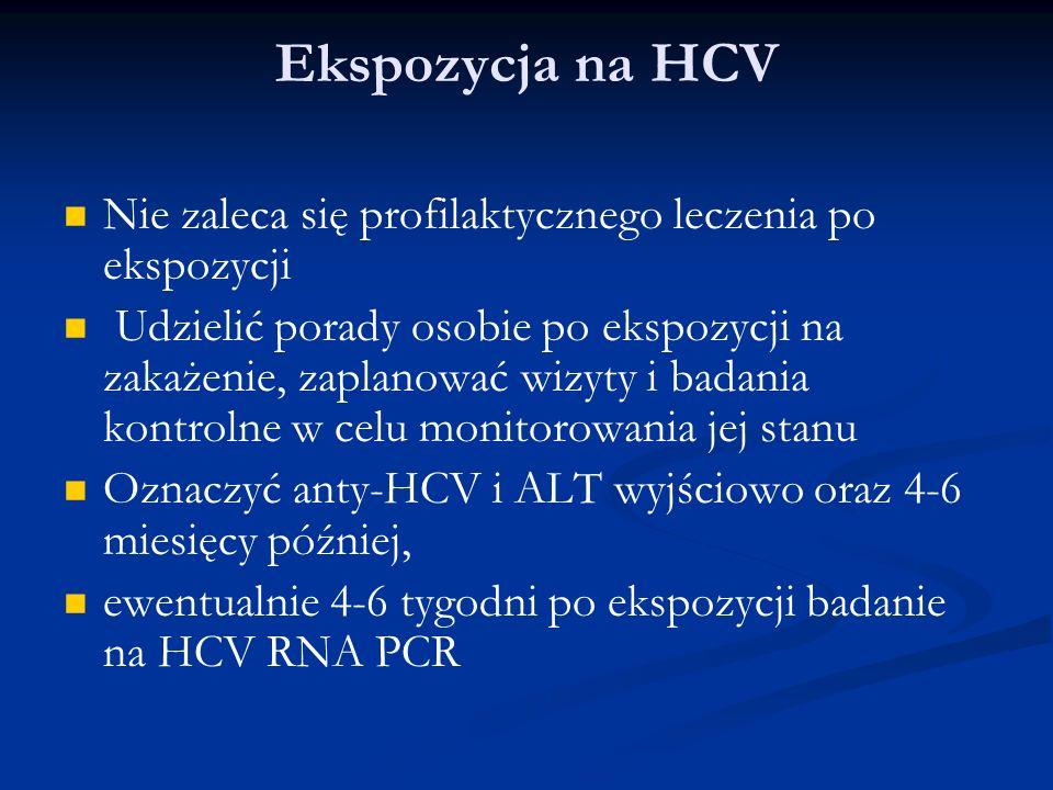 Ekspozycja na HIV Rozpocząć profilaktykę jak najszybciej po ekspozycji (optymalnie w ciągu kilku godzin).