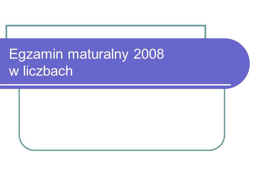 Egzamin maturalny 2008 w liczbach
