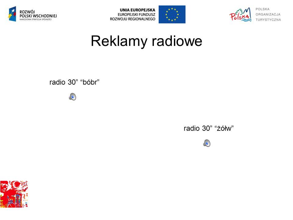"""Reklamy radiowe radio 30"""" """"bóbr"""" radio 30"""" """"żółw"""""""