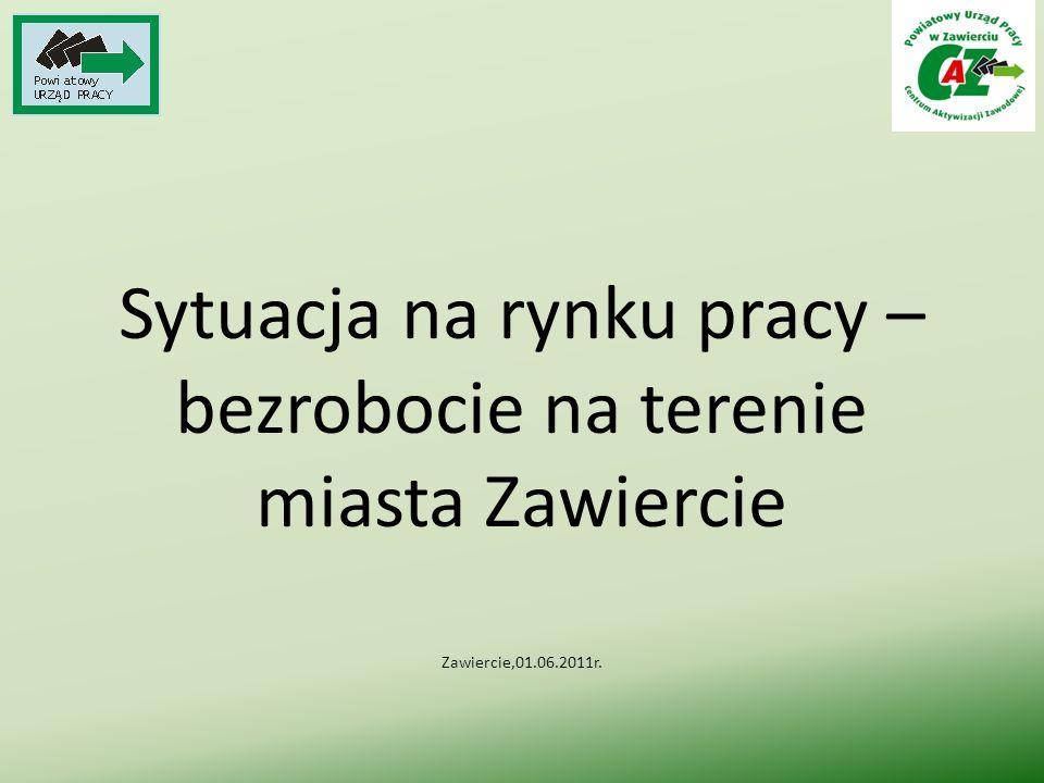Sytuacja na rynku pracy – bezrobocie na terenie miasta Zawiercie Zawiercie,01.06.2011r.