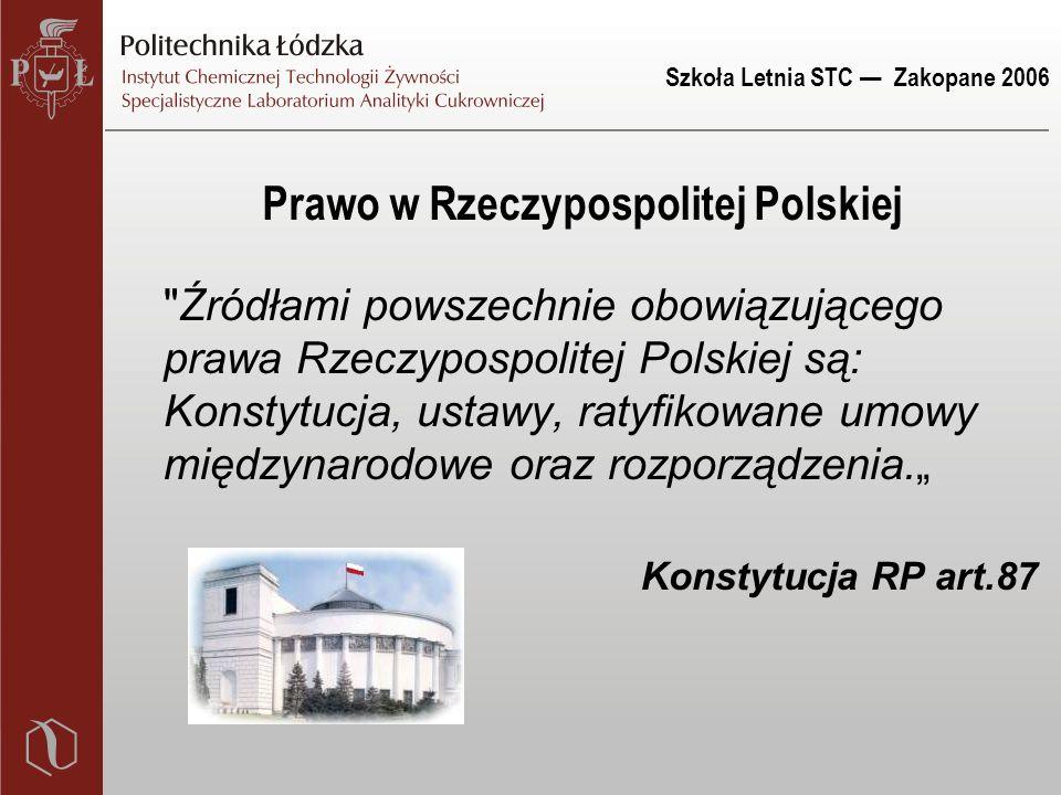 Szkoła Letnia STC — Zakopane 2006 Prawo w Rzeczypospolitej Polskiej