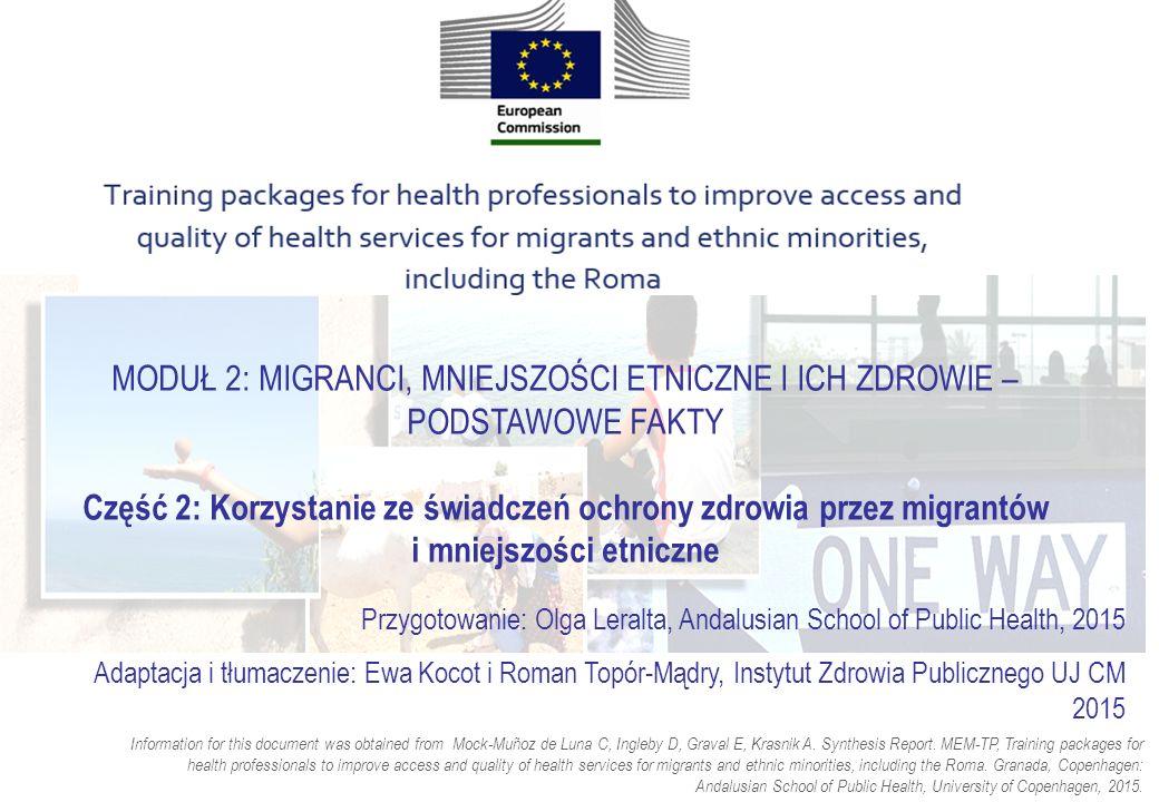 Dyskryminacja i brak zaufania Wielu migrantów i mniejszości etnicznych doświadcza dyskryminacji podczas próby dostępu do opieki zdrowotnej Brak zaufania do profesjonalistów i świadczeń jako rezultat oczekiwania dyskryminacji i złego traktowania Brak zaufania pomiędzy społecznościami migrantów i mniejszości, a profesjonalistami medycznymi oparty może być na ogólnym braku zaufania tych grup do instytucji publicznych, wynikającym z językowych lub kulturowych różnic, ale również z długotrwałych anatagonizmów.