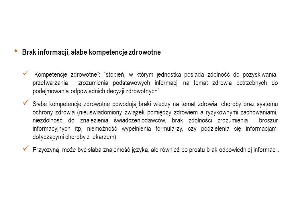 Ocena sytuacji zdrowotnej migrantów w Polsce w latach 2008-2009 na podstawie danych z Ogólnopolskiego Badania Chorobowości Szpitalnej Ogólnej Analizowano wyłącznie przypadki hospitalizacji chorób somatycznych Stwierdzono, że liczba hospitalizowanych migrantów wahała się od 57039 w 2008 r.