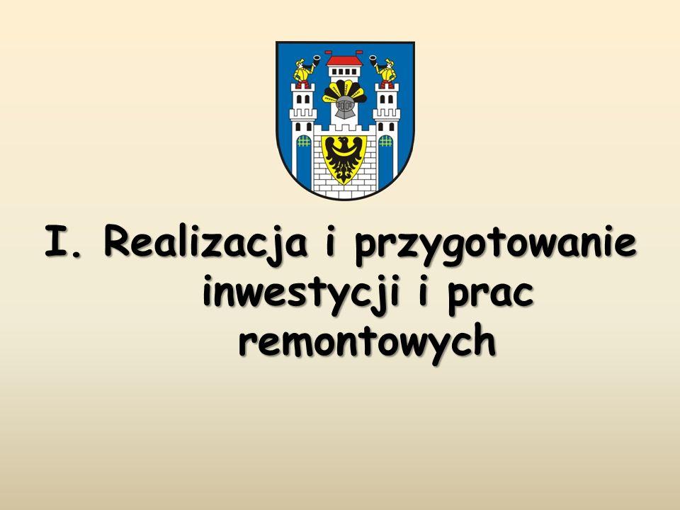 I. Realizacja i przygotowanie inwestycji i prac remontowych