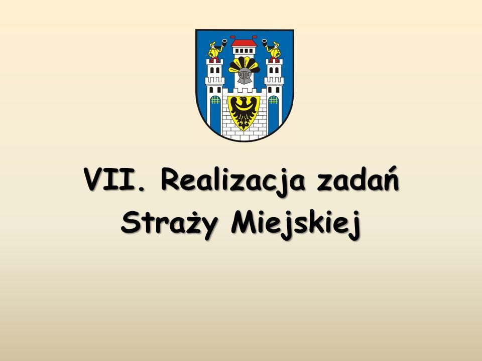 VII. Realizacja zadań Straży Miejskiej