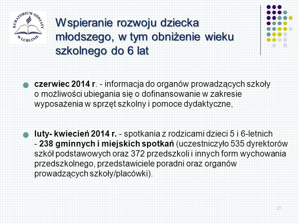 27 czerwiec 2014 r. - informacja do organów prowadzących szkoły o możliwości ubiegania się o dofinansowanie w zakresie wyposażenia w sprzęt szkolny i