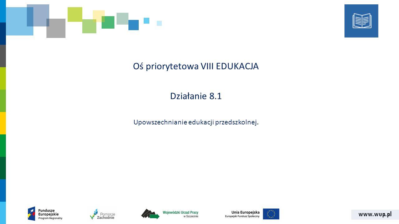 www.wup.pl DOFINANSOWANIE PROJEKTÓW Alokacja15 000 000,00 zł Rezerwa na odwołania750 000,00 zł Wsparcie finansowe EFS15 000 000,00 zł Wkład własnymin.