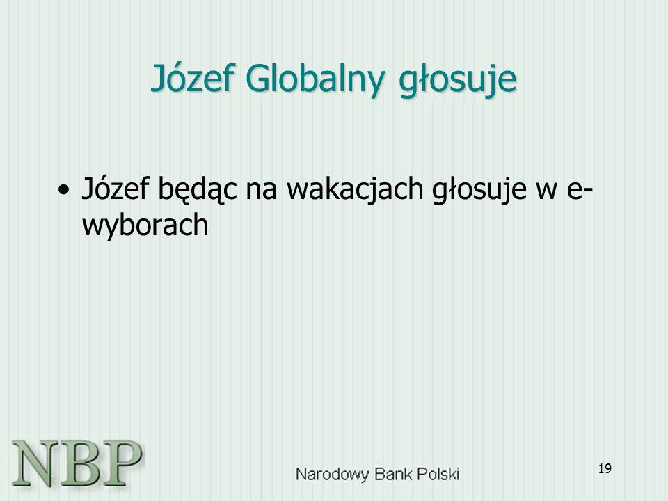 19 Józef Globalny głosuje Józef będąc na wakacjach głosuje w e- wyborach