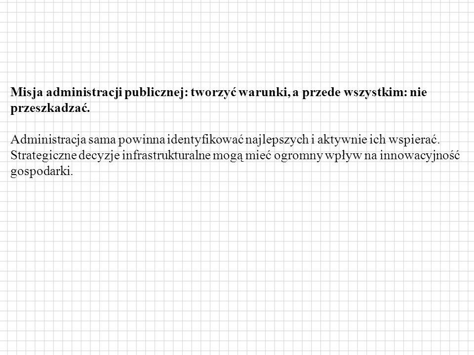 Misja administracji publicznej: tworzyć warunki, a przede wszystkim: nie przeszkadzać.