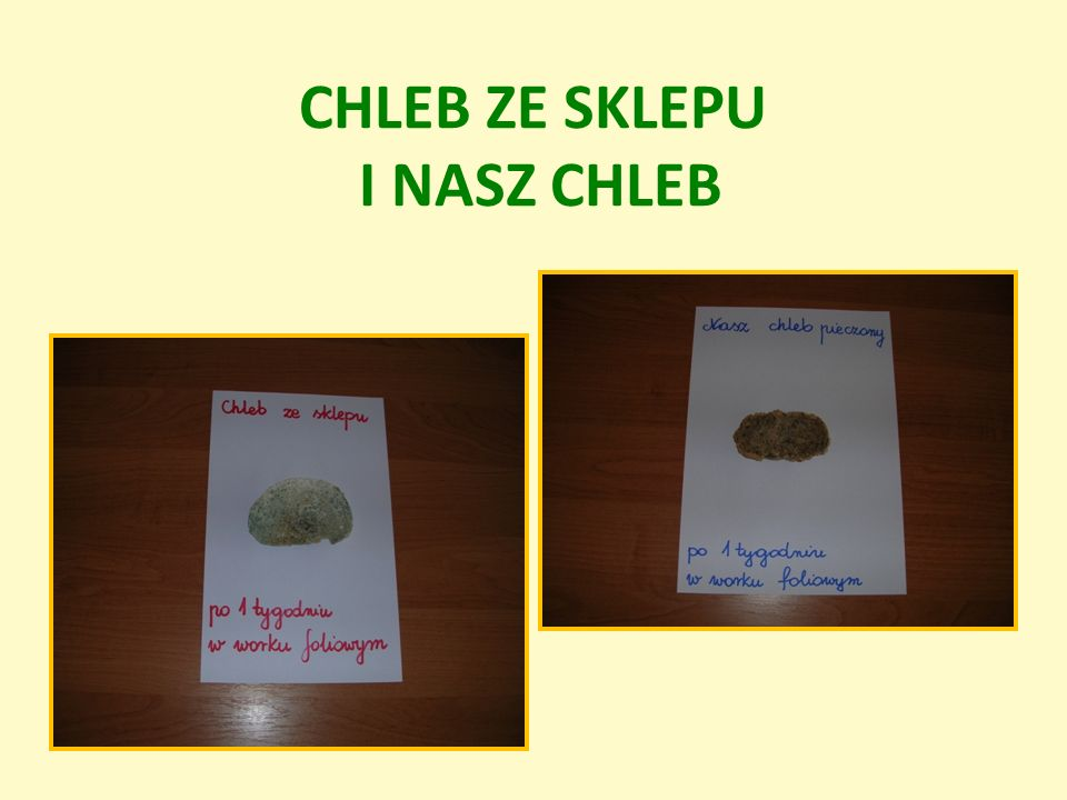 CHLEB ZE SKLEPU I NASZ CHLEB