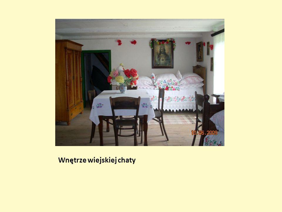 Wnętrze wiejskiej chaty