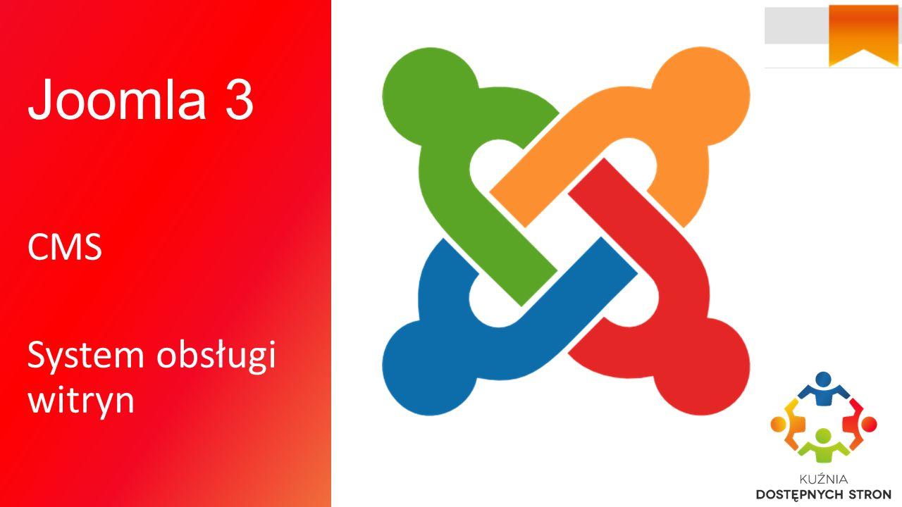 Joomla 3 CMS System obsługi witryn