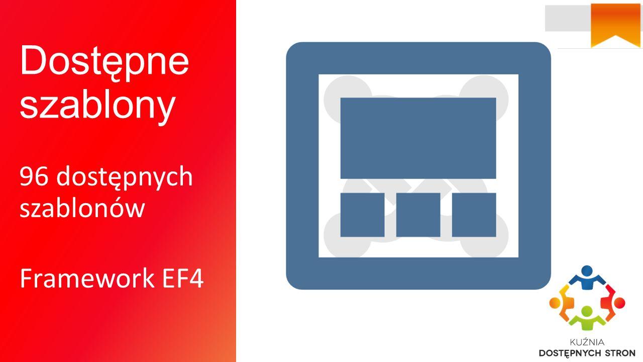 Dostępne szablony 96 dostępnych szablonów Framework EF4