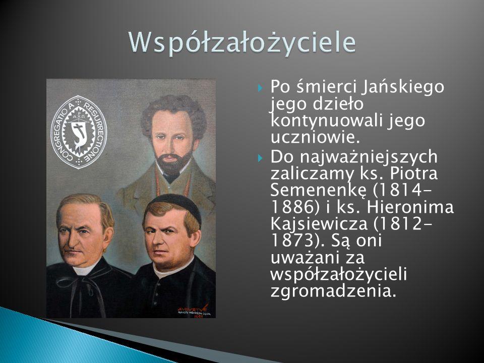  Po śmierci Jańskiego jego dzieło kontynuowali jego uczniowie.  Do najważniejszych zaliczamy ks. Piotra Semenenkę (1814- 1886) i ks. Hieronima Kajsi