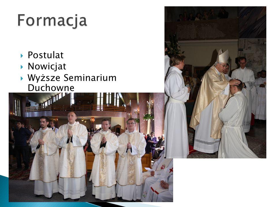  Postulat  Nowicjat  Wyższe Seminarium Duchowne