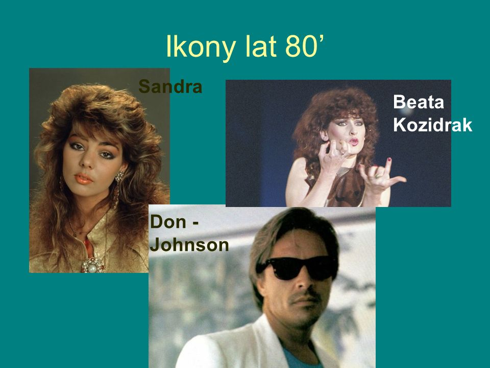 Ikony lat 80' Sandra Don - Johnson Beata Kozidrak