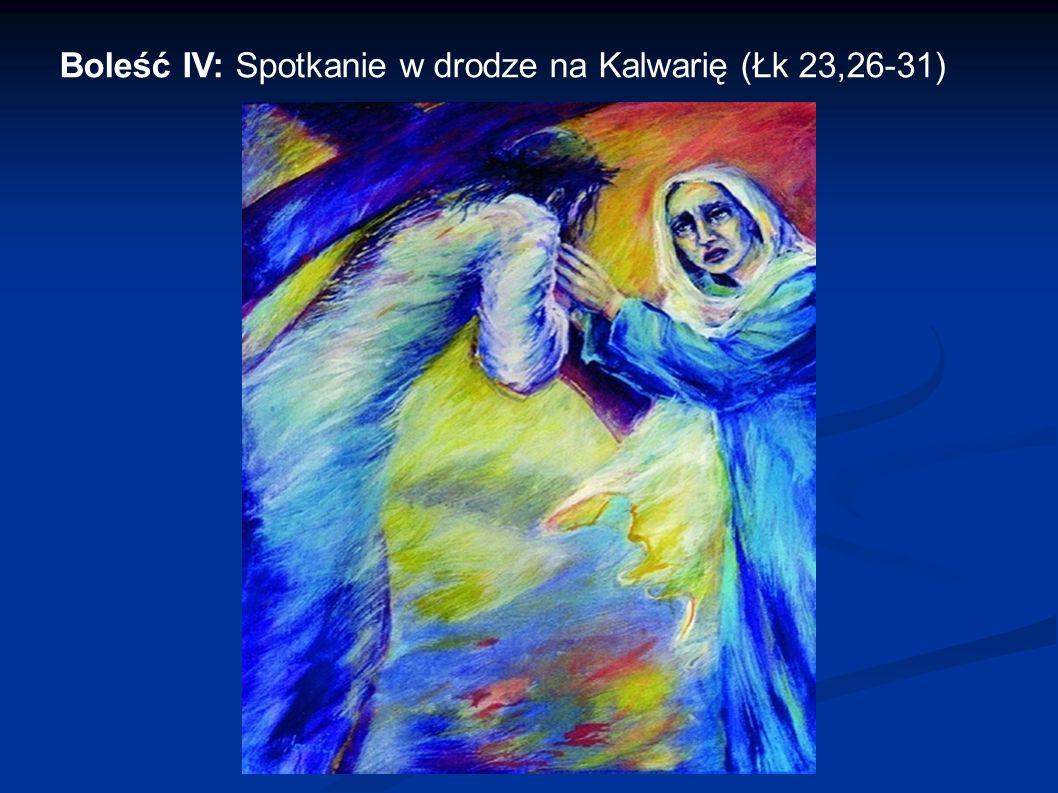 Boleść IV: Spotkanie w drodze na Kalwarię (Łk 23,26-31)