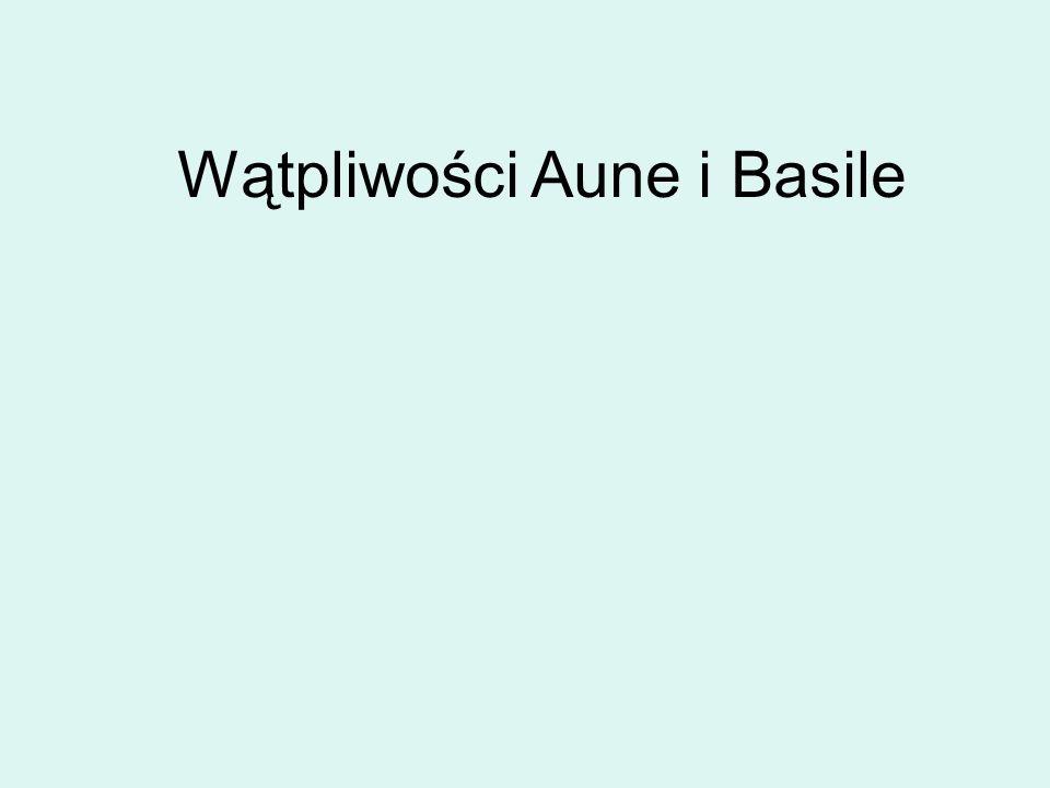 Wątpliwości Aune i Basile