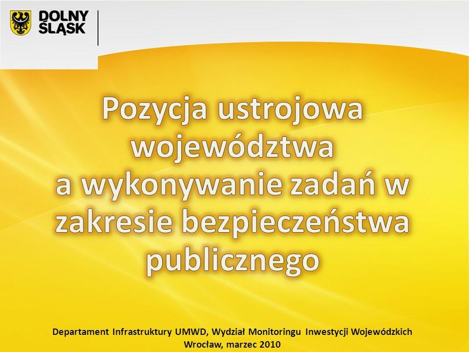 Departament Infrastruktury UMWD, Wydział Monitoringu Inwestycji Wojewódzkich Wrocław, marzec 2010