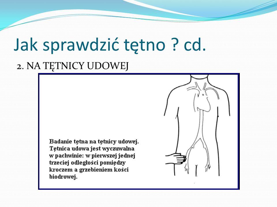 Jak sprawdzić tętno ? cd. 3. NA TĘTNICY PROMIENIOWEJ