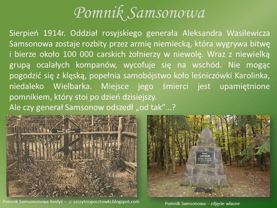 Pomnik Samsonowa Sierpień 1914r.
