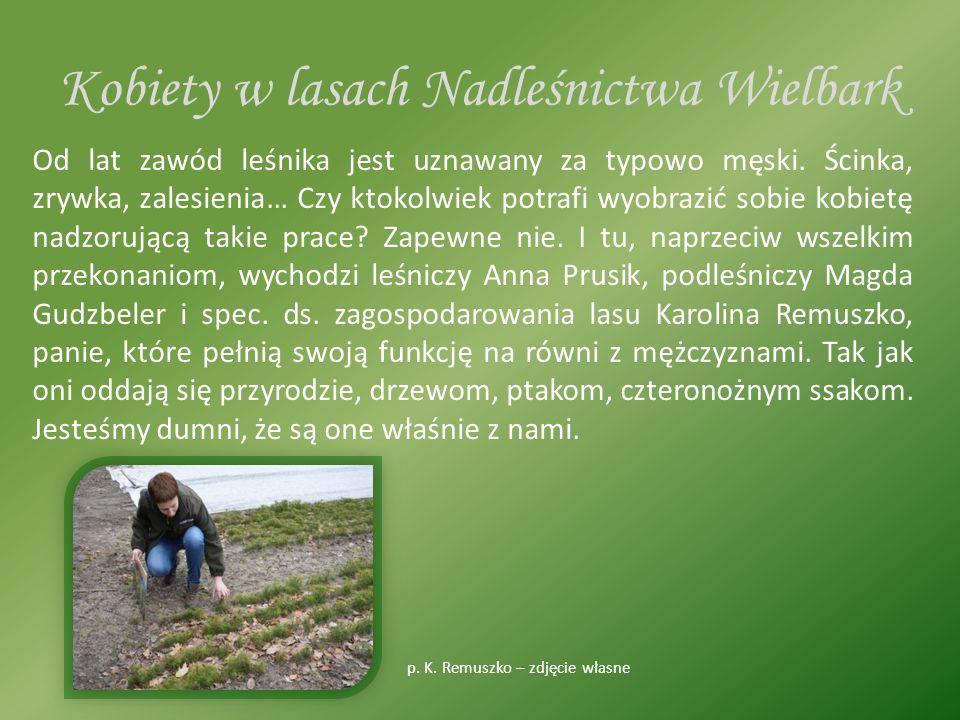 Kobiety w lasach Nadleśnictwa Wielbark Od lat zawód leśnika jest uznawany za typowo męski.