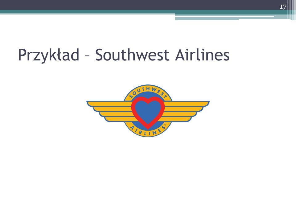Przykład – Southwest Airlines 17