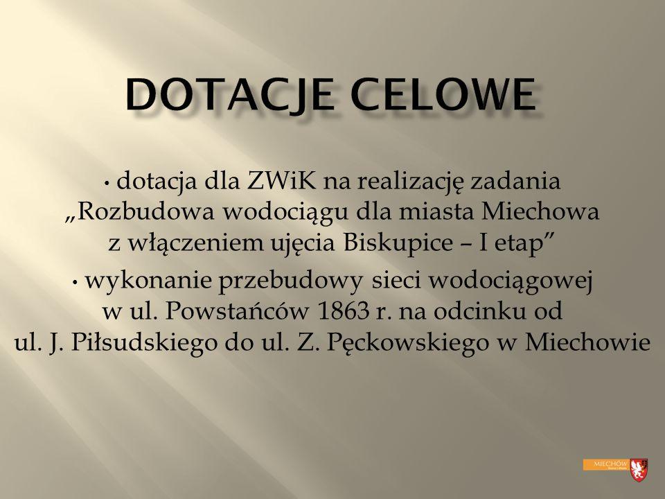 wykonanie przebudowy sieci wodociągowej w ul. Powstańców 1863 r.