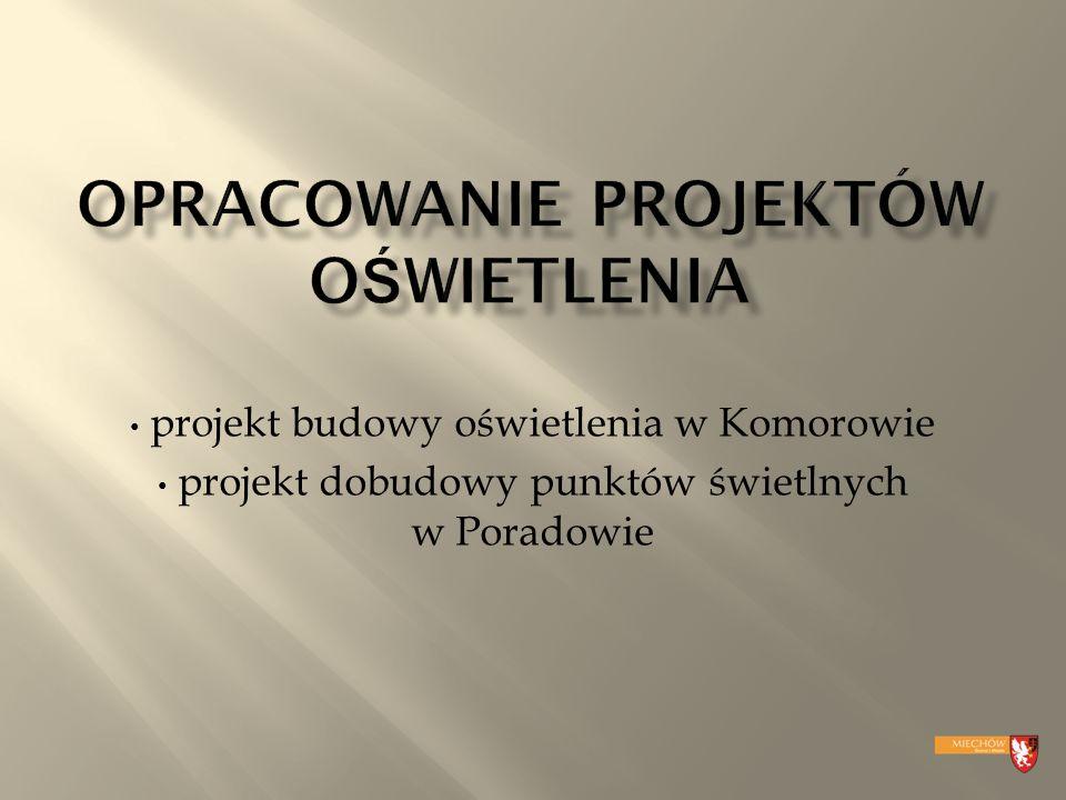 projekt dobudowy punktów świetlnych w Poradowie