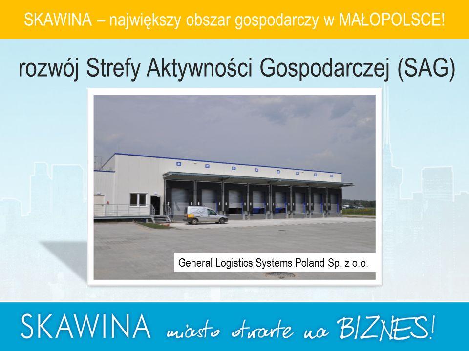 General Logistics Systems Poland Sp. z o.o. SKAWINA – największy obszar gospodarczy w MAŁOPOLSCE.