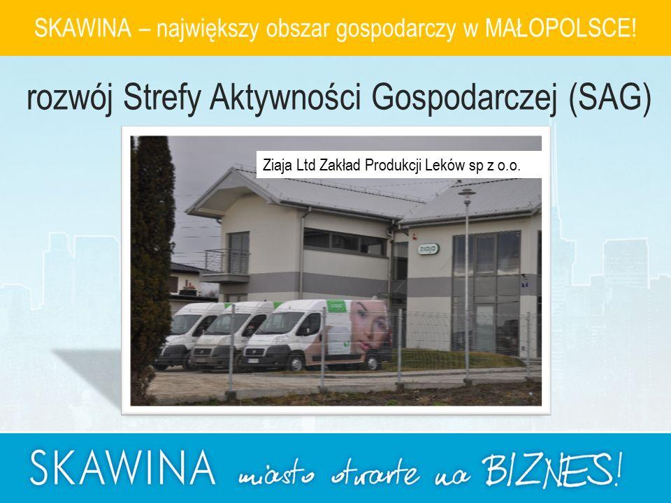 Ziaja Ltd Zakład Produkcji Leków sp z o.o. SKAWINA – największy obszar gospodarczy w MAŁOPOLSCE.