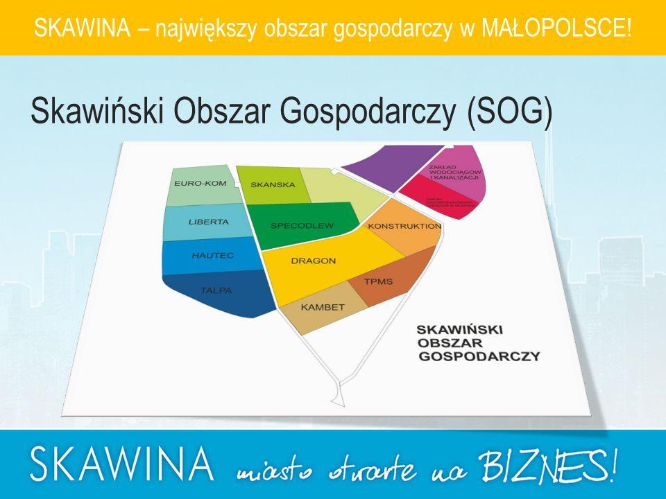 SKAWINA – największy obszar gospodarczy w MAŁOPOLSCE! Skawiński Obszar Gospodarczy (SOG)